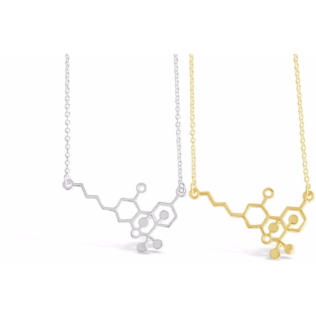 Cannabis Molecule Necklace - Rosa Vila