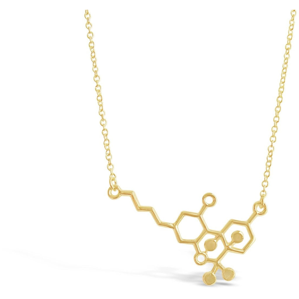 Necklace - THC Molecule Necklace, Cannabis Molecule, Use This Nerdy Necklace Jewelry Piece To Celebrate The Weed Freedom!
