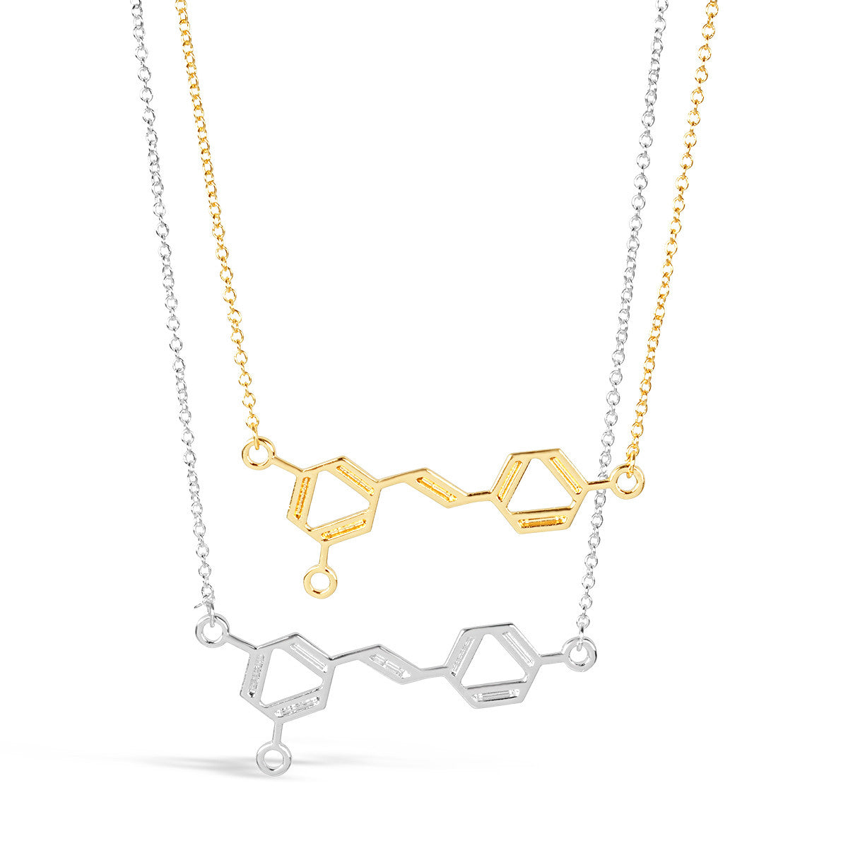 genetics silver dna image helix itm double science plated pendant necklace loading nerdy s is