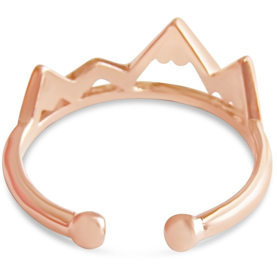Ring - Cute Mountain Ring - Gold, Rose Gold And Silver