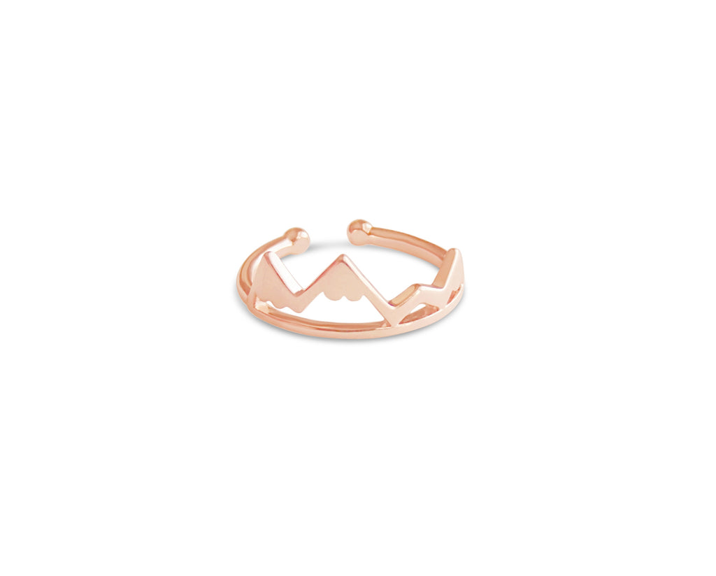 Ring - Dainty Mountain Ring - Gold, Rose Gold And Silver