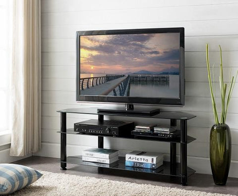 ACE TV Glass Rack - Black (1200W X 400D X 508H)