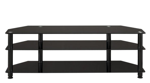 ACE TV Glass Rack - Black (1500W X 400D X 508H)