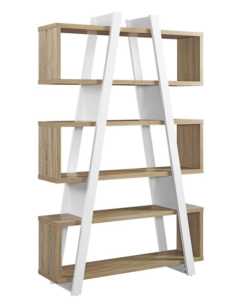 Box 1 Banksia A Frame Bookcase - Oak and White