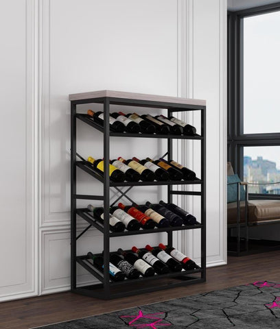 Capri Wine Rack  - Oak Top 1240mm