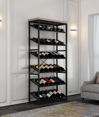 Capri Wine Rack  - Oak Top 1840mm