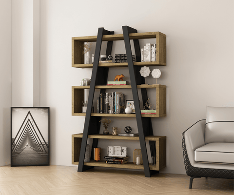 Banksia A Frame Bookcase - DARK OAK