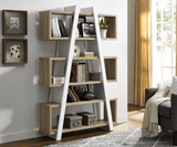 Banksia A Frame Bookcase - Oak and White