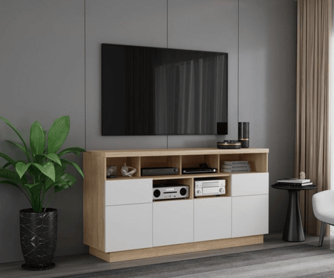 Brunswick Tall TV Cabinet - OAK