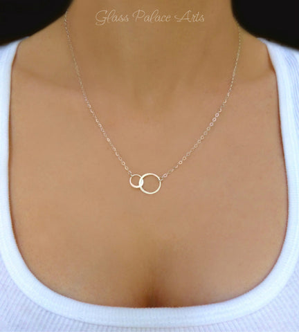 Sterling Silver Infinity Necklace - Eternity Forever Necklace