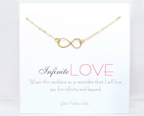 Gold Infinity Necklace - Infinity Silver Love Necklace