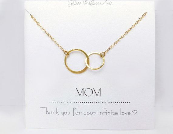Personalized Necklace For Mom - Infinity Necklace Gift