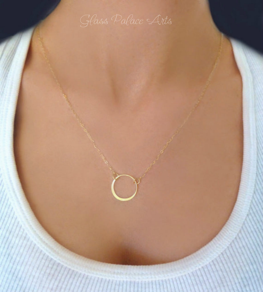 Dainty Infinity Necklace - Simple Eternity Necklace