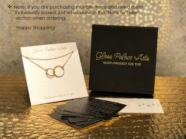 Gold Infinity Necklace - Personalized Infinity Necklace Gift