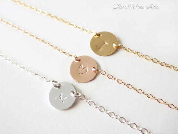 Personalized Choker - Initial Choker Necklace - Monogrammed Dainty Necklace