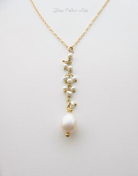 Modern and Dainty Freshwater Pearl Pendant Necklace