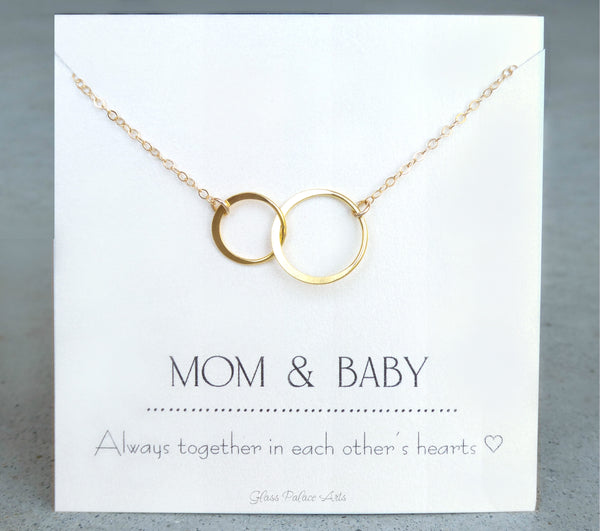 Infinity Necklace On Mom And Baby Card