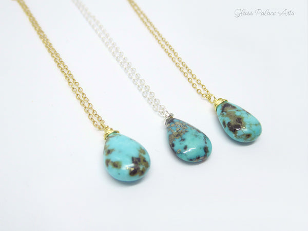 Layered Sleeping Beauty Turquoise Multi Strand Necklaces