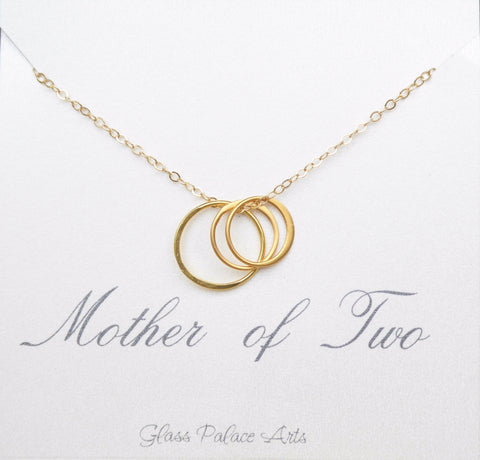 Mother of Two Necklace - Two Daughters Gift From Mom
