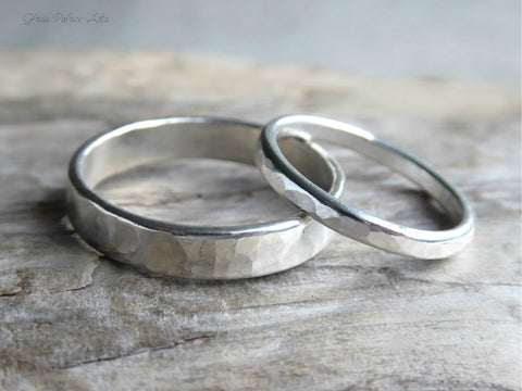 His And Hers Matching Couples Ring Set - Matching Wedding Bands