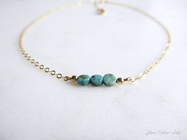 Bohemian Beaded Turquoise Choker Necklace For Women
