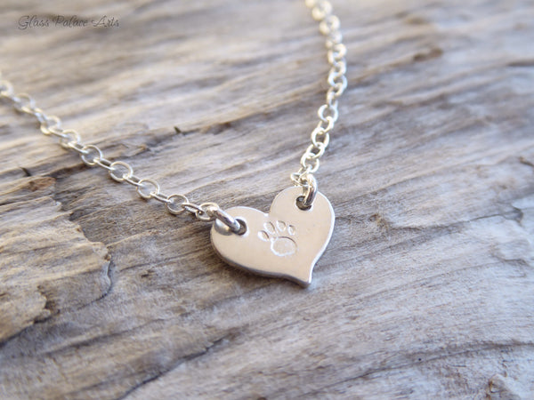 Personalized Paw Print Necklace - Pet Loss Necklace Jewelry - Dog Lover Gift