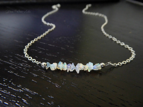 Raw Ehiopian Opal Necklace - 14k Gold Fill, Rose Gold Fill or Sterling Silver