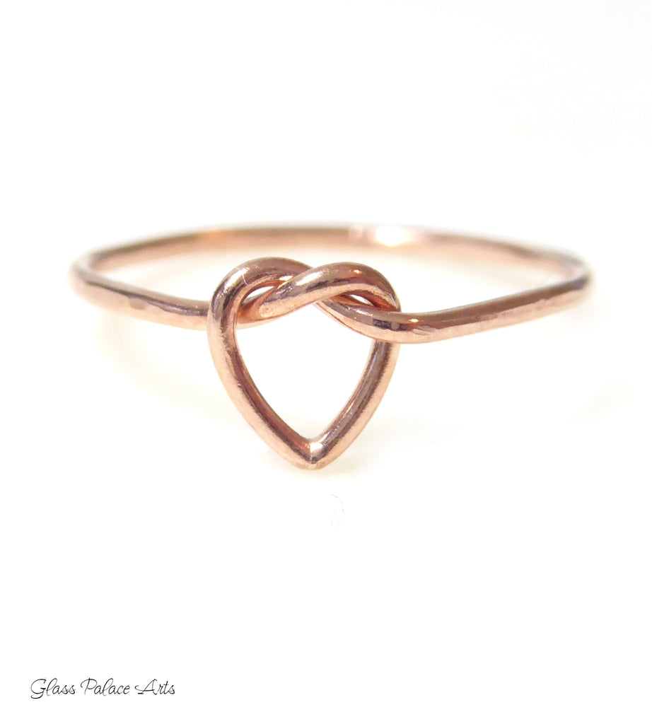 "Heart Knot Ring For Women - ""Tie the Knot"" Sterling Silver, Rose Gold or 14k Gold Fill"