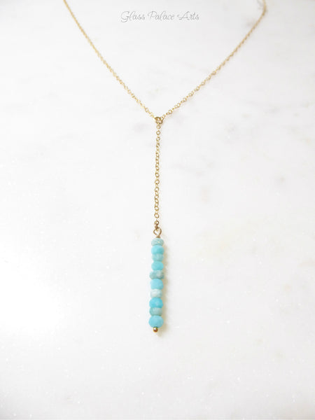 Peruvian Opal Drop Necklace For Women - Sterling Silver, Gold, Rose Gold