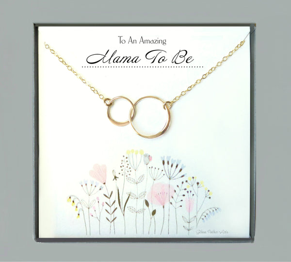 Mama To Be Necklace Gift, Pregnancy Jewelry For Expecting Mom