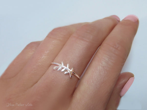 Leaf Ring For Women - 925 Sterling Branch Ring