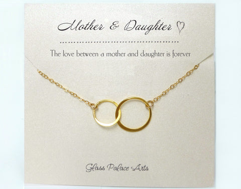 Mother Daughter Infinity Bracelet Set - Sterling Silver, Rose Gold, 14K Gold Fill
