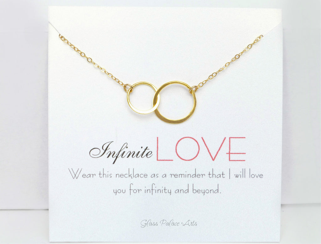 Infinite Love Infinity Necklace For Women - Sterling Silver, Gold, Rose Gold