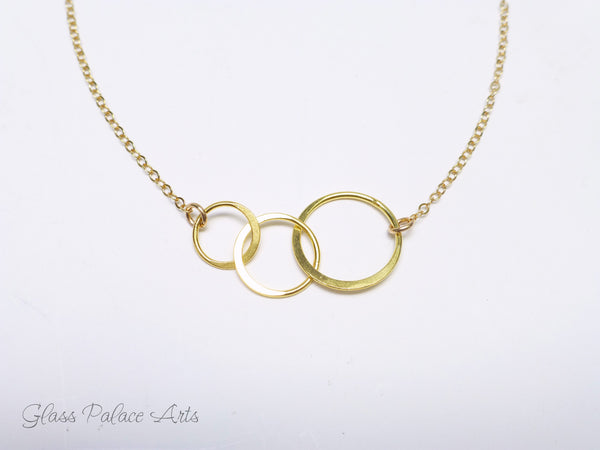 Three Circle Infinity Necklace - Gold, Rose Gold, or Sterling Silver