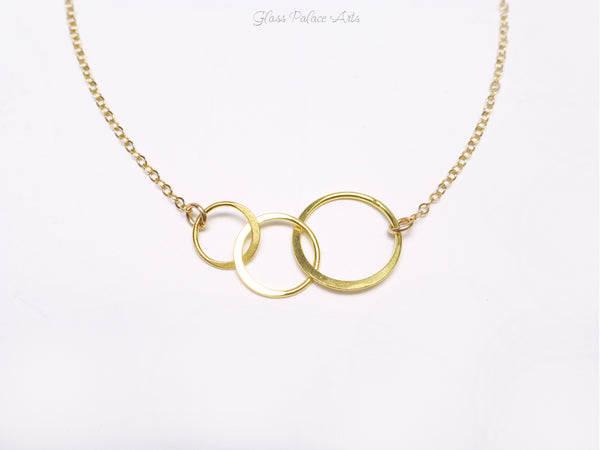 Three Sisters Necklace Gift - Sisters Three Ring Infinity Necklace