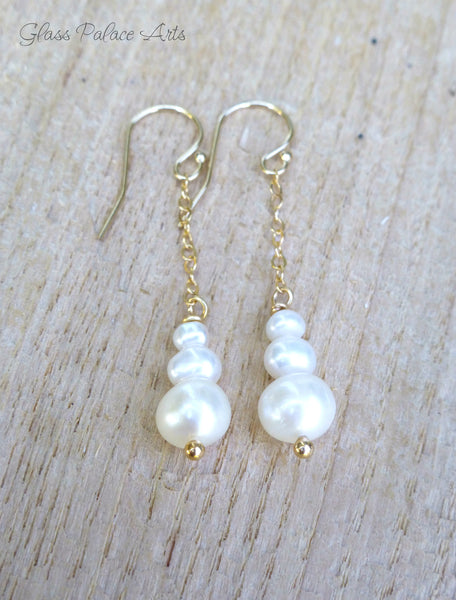 Pearl Dangle Earrings - Freshwater Pearl Earrings