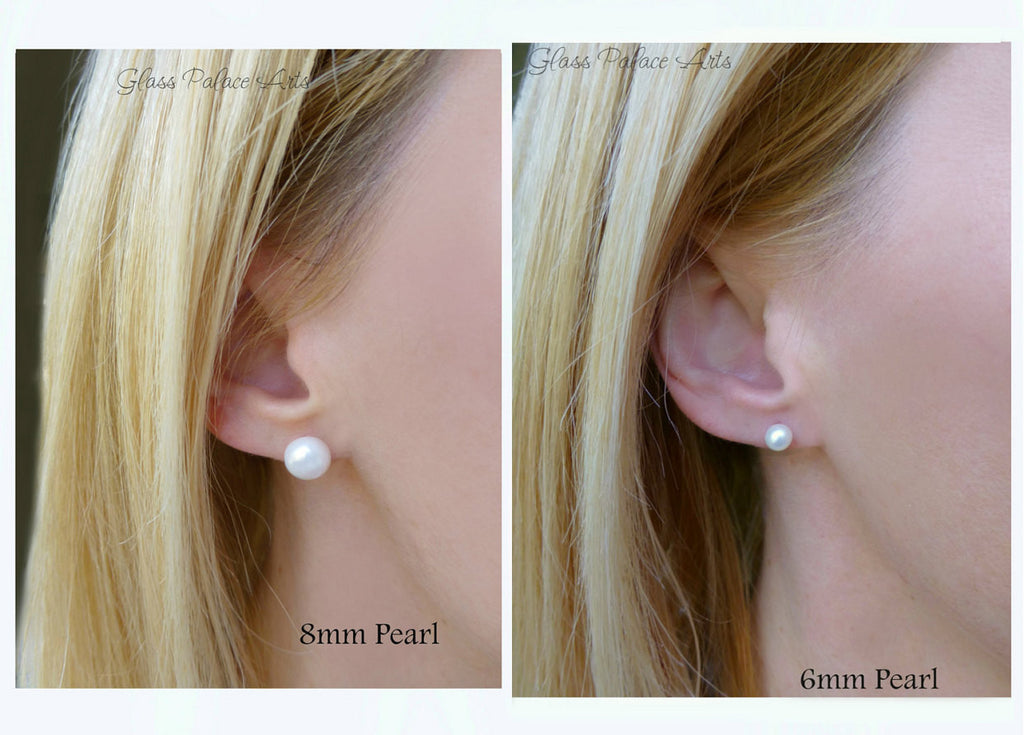 round brown birthstone golden earrings june freshwater cultured stud pearl