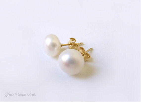 Pearl Stud Earrings - Freshwater Pearl Post Earrings