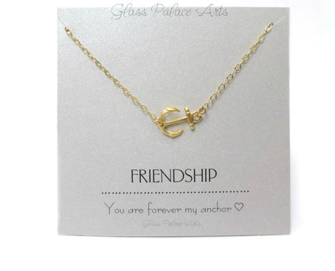 Anchor Necklace - Friendship Jewelry Gift