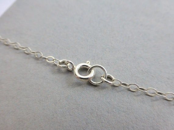 Sterling Silver Heart Necklace -Dainty Interlocking Heart Necklace - Connected Heart Jewelry