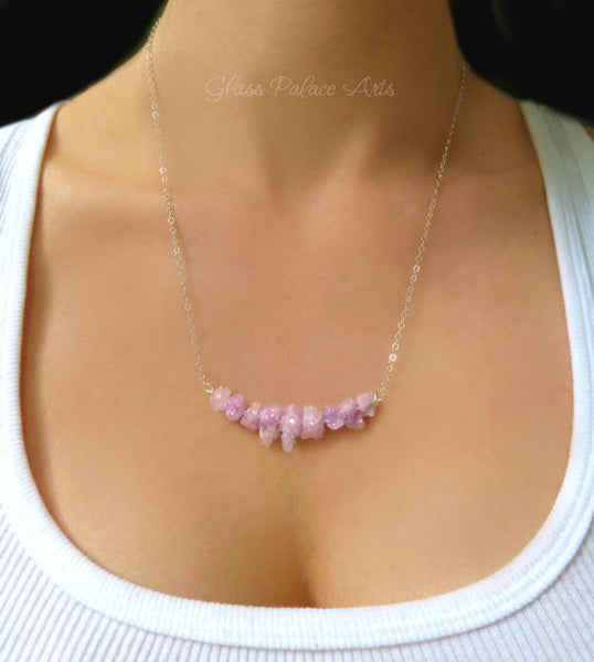 Pink Druzy Statement Necklace - Raw Gemstone Necklace