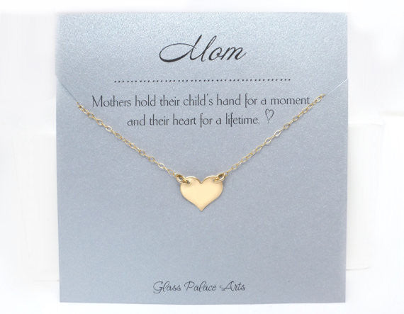 Gift For Mom Necklace - Personalized Necklace For Mom - Gold Rose Gold or Silver