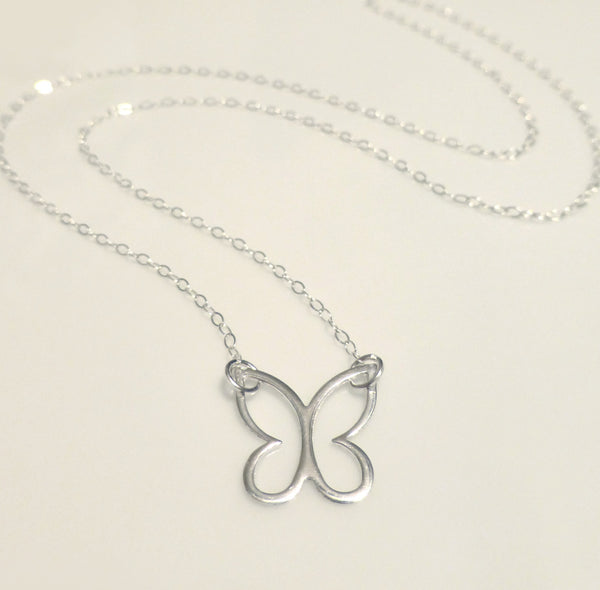 Dainty Butterfly Necklace - Small  Butterfly Charm Necklace