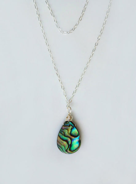 Layered Abalone Necklace - Multi Strand Paua Sea Shell Necklece