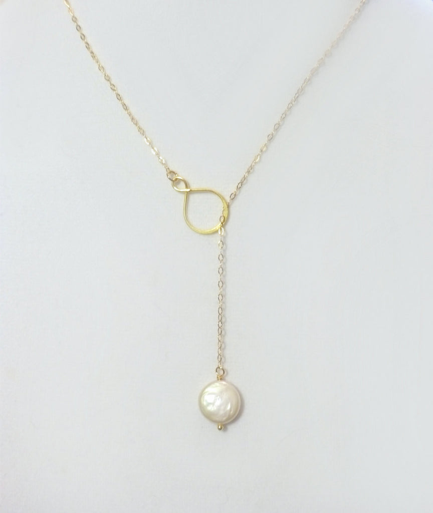 roo lily necklace or large single gold by pearl product drop lilyandroo original silver rose chain