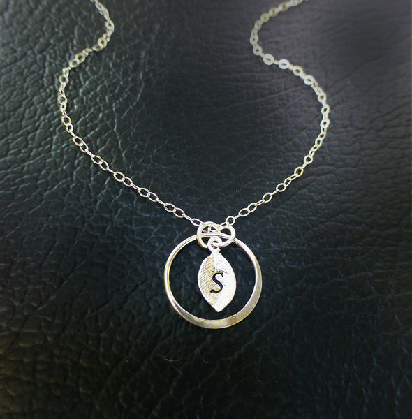 Personalized Initial Necklace - Hand Stamped Necklace