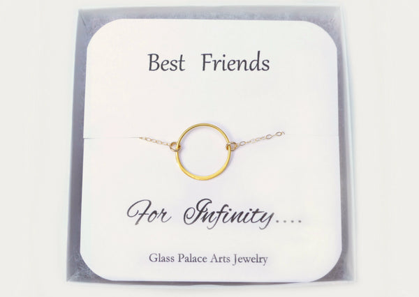 Best Friends Infinity Necklace - With Note Card