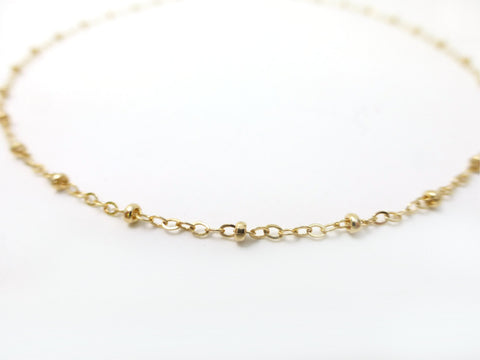 Gold Satellite Necklace - Simple Dainty Layering Necklace