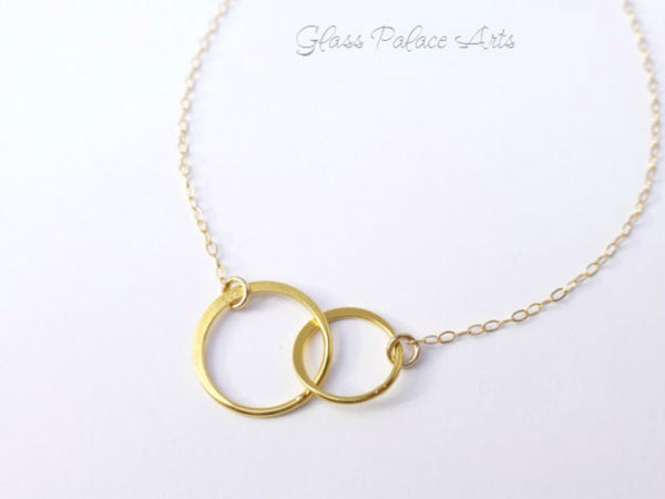 Infinity Circle Necklace For Sisters - Sterling Silver, Gold or Rose Gold