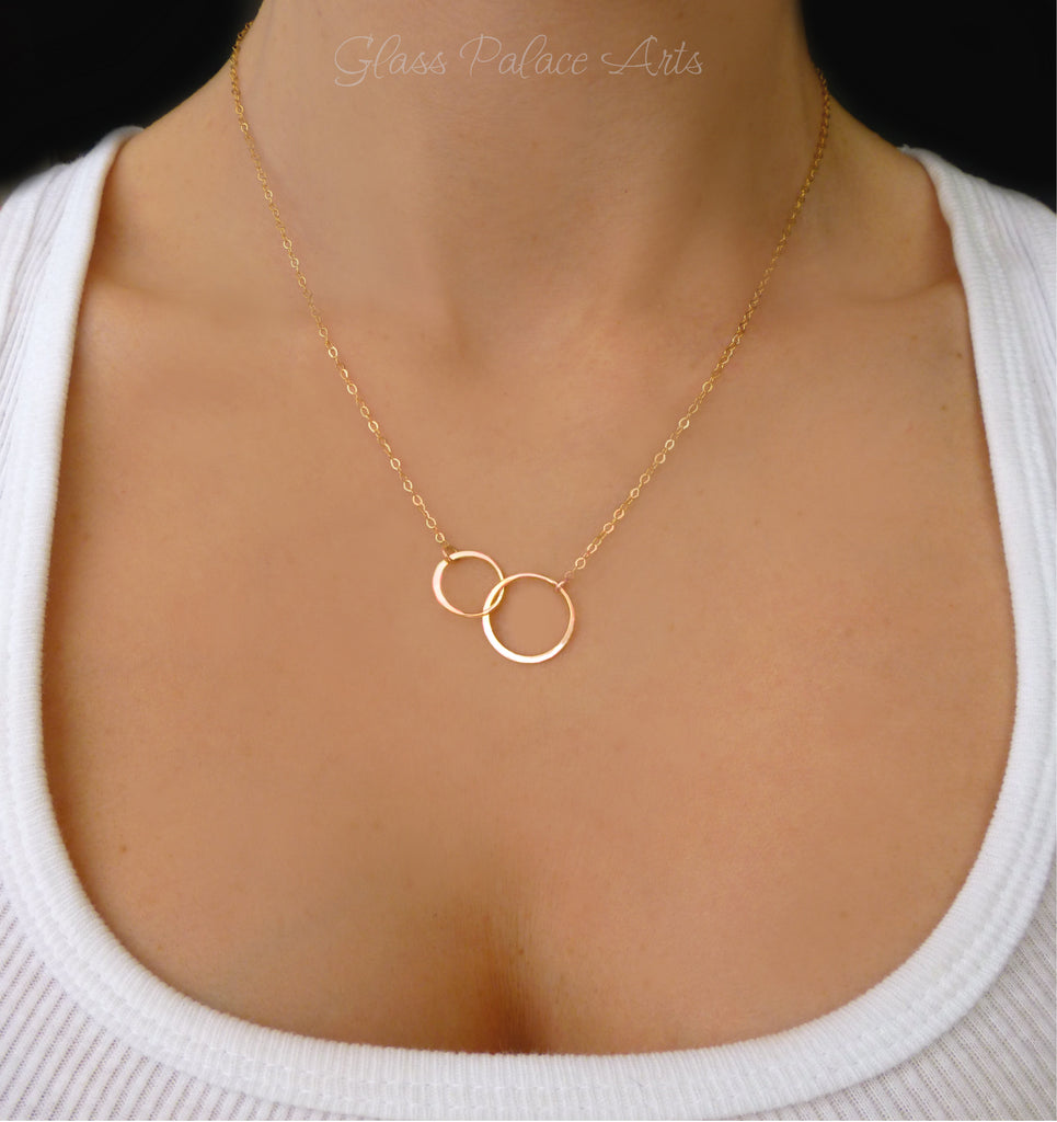 infinity necklace gold. infinity necklace with simple circle pendant - available in sterling silver, gold or rose